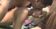 Seks z cycatą mamusią na stojaka