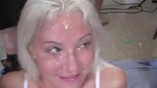 Słodka Debbie otrzymuje spust na twarz