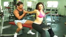 Trening z mega seksowną babeczką