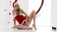 Świąteczna masturbacja fajnej Ukrainki