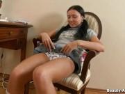 Wymasowała na krześle swoją piczkę