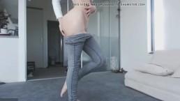 Wysportowane ciałko seks modelki